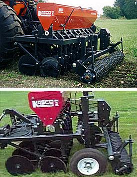 Versa Drill food plot seeders, pasture seeders and landscape seeder drills.