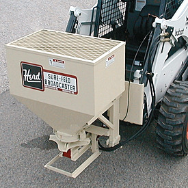 Herd sand and salt spreaders.