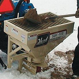 Skid Steer and PTO Powered Sand Spreaders and Salt Spreaders.