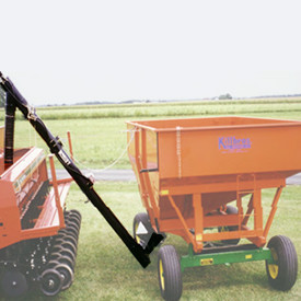 Gravity wagon augers, part of Kasco's agricultural equipment.