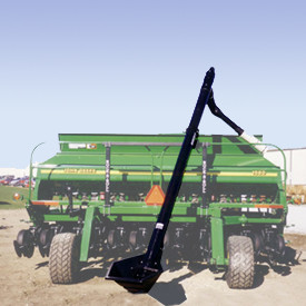 Rock-N-Roll system for seed fill augers for grain drills.