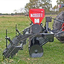 Min-till drill for pasture renovation, wildlife habitats and erosion control.