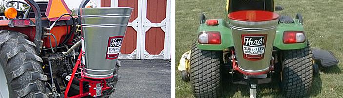 Herd seeders/spreaders from Kasco include ATV, lawnmower and broadcast seeders/spreaders