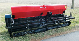 Pivot Solid-Stand high capacity landscape seeders.