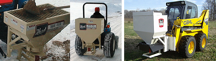 Skid Steer, Scoop and PTO Powered Sand/Salt Spreaders