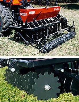 Eco Drill, landscape seeder, pasture seeders and food plot seeders.