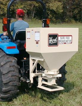 Herd Model 750 broadcast seeder/spreader from Kasco.
