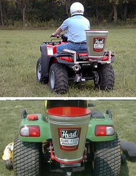 ATV seeder, ATV spreader or turf spreader.