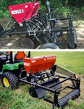 Plotter's Choice food plot seeder drill.