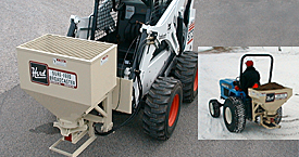Herd salt spreaders, sand spreaders