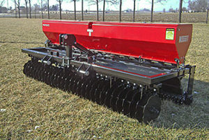 10' wide Vari Slice landscape seeder, turf seeder, pasture seeder and food plot seeders.