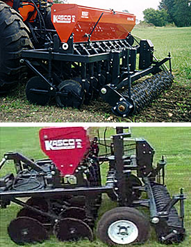 Versa Drill food plot seeders, pasture seeders and landscape seeder drills.